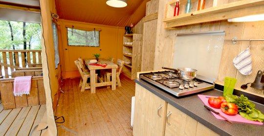 tente safari woody cuisine