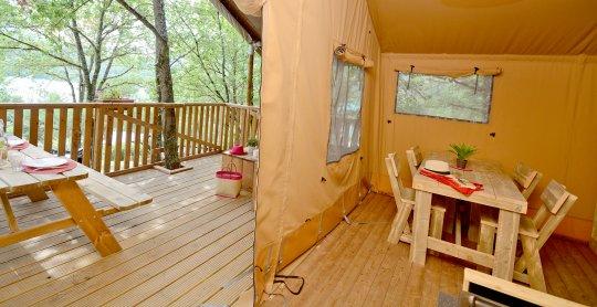 tente safari woody terrasse salon